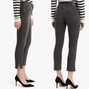 Levi's® Sz 12 Black Wash Classic Crop Jeans